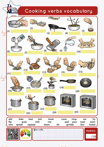 cooking verbs vocabulary