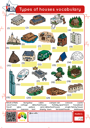 types of houses vocabulary