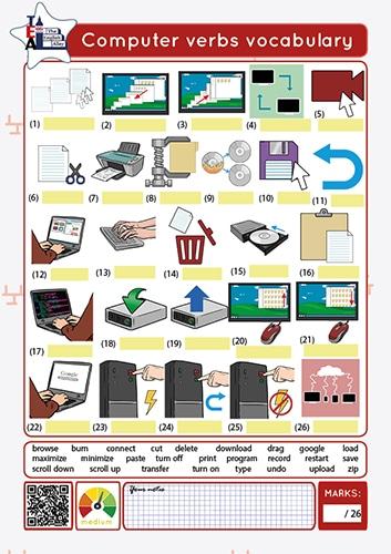 verbos de informática en inglés